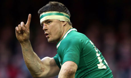 Brian O'Driscoll, star performer for Ireland in 30-22 win against Wales in Cardiff